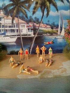 medium size plastic people figures swimsuit beach by Khrissieslittleworld on Etsy https://www.etsy.com/listing/188514879/medium-size-plastic-people-figures
