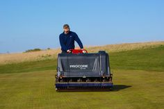 Heritage course greens aerification, in order to get more oxygen into the soil and improve the surface