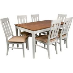 Wiltshire Two Tone Dining Table 8 Chairs From Homebasecouk