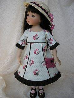 Dress-hat-purse-for-13-Dianna-Effner-Little-Darling-doll-handmade-Tomi-Jane. Ends 8/28/14.