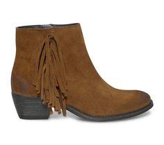 boots camel à franges