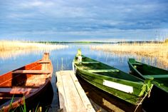 Local boats moored on the banks of the Mazurian Lakes