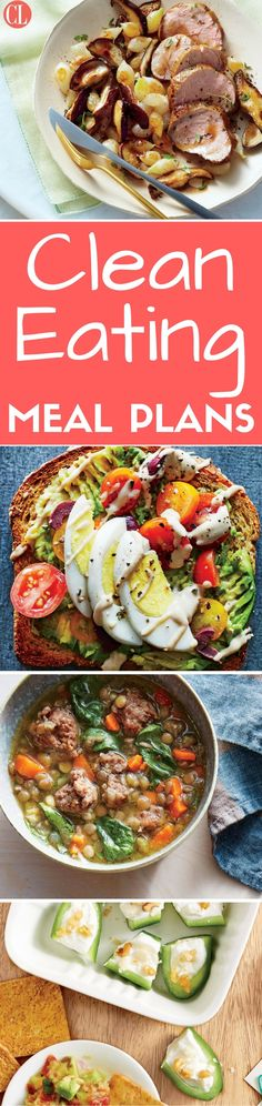These breakfast, lunch, snack, and dinner ideas are simple, because wholesome ingredients rarely need much tinkering. Use this meal plan as a guide for eating clean all week long. | Cooking Light