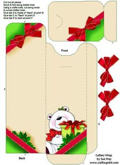 Christmas Bear Cutlery Wrap