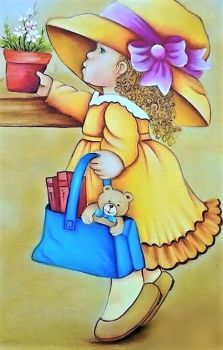 """""""Mary Lou"""" (96 pieces) Art Drawings For Kids, Drawing For Kids, Easy Drawings, Art For Kids, Illustrations Vintage, Acrylic Painting Techniques, Art Deco Home, Holly Hobbie, Color Pencil Art"""