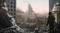 Apocalypse City Post-apocalyptic Ruins Wallpaper