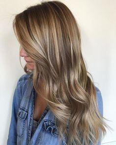 Hair Ideas, Color Melting Hair Blonde, Hair Color Blonde Highlights, Hair Colors, Summer Hair Color Ideas, Full Head Highlight, Hair Colour, Color Melt Hair