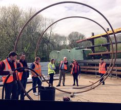 Behind the scenes of a Chelsea Show Garden: with less than two months to go, with Fordingbridge today talking structural development, optimum water flow and all the mind-blowing engineering specifics behind a 4m high helical structure.