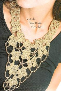 crochet collar diagram
