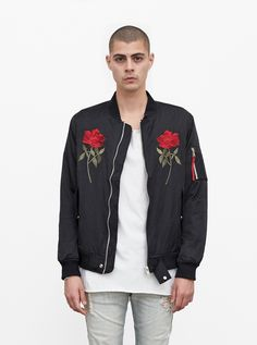 MIRRORED ROSE BOMBER JACKET IN BLACK PREVIOUS PRODUCTNEXT PRODUCT $154.00 USD