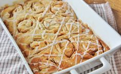"""Fudge Apple Swirl Rolls! Enriched bread dough swirled with tart granny smith apples and sweet butter vanilla fudge. Topped with a simple glaze, these rolls just scream """"Autumn is here!"""""""