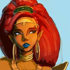 I absolutely love Zelda Breath of the Wild! But Urbosa has to be my favorite character/Champion in the whole game! The Legend Of Zelda, Legend Of Zelda Breath, Link Zelda, Princesa Zelda, Master Sword, Fan Art, Pokemon, Twilight Princess, Breath Of The Wild