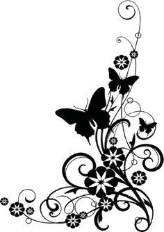 Free clip art black and white flowers flower flourishes clipart its a similar design for female t shirt i have many similar design mightylinksfo