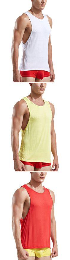 Fitness Training: Mens Sleeveless Tank Tops: Running Sport