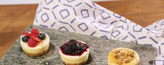 Foolproof Mini Cheesecakes - The Chew - Clinton Kelly  Never mess up a cheesecake again with this mini version from Clinton!