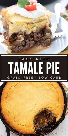 Low Carb Dinner Recipes, Keto Dinner, Keto Recipes, Mexican Dishes, Mexican Food Recipes, Mexican Meals, Dessert Recipes, Tamale Pie, Low Carb Casseroles