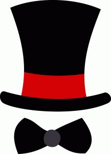 Silhouette Design Store - View Design top hat and bow tie Wedding Top Hat, Wedding Groom, Mustache Wallpaper, Top Hat Centerpieces, Top Hats For Women, Top Hat Costume, Hat Template, Steampunk Top Hat, Diy Photo Booth