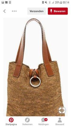 Jute Handbags, Crochet Handbags, Handmade Handbags, My Bags, Purses And Bags, Crochet Backpack Pattern, Crochet Cord, Free Crochet, Potli Bags