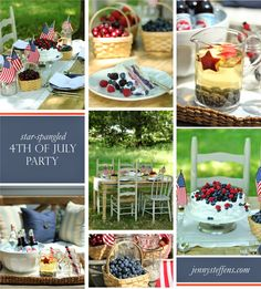 My Favorite 4th of July Recipes & Table Settings - Jenny Steffens Hobick