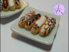 Tutorial: Eclairs in fimo (eclairs in polymer clay) [eng-sub]