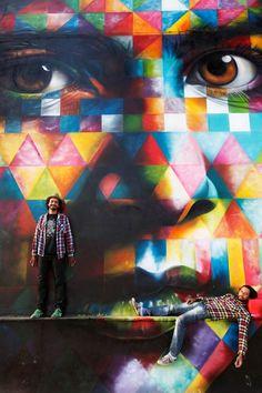 Une sélection des impressionnantes créations street art du talentueux artiste brésilienEduardo Kobra, originairede Sao Paolo. De magnifiques oeuvres giga