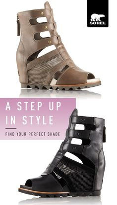 Shop SOREL and step up your style. We upped the ante with the Joanie Wedge collection, drawing inspiration from our iconic Joan boot and reimagining it several ways for sunny days. The resulting styles are as of-the-moment as they are wearable, all day long, everywhere you go. Find your fit and shop today.