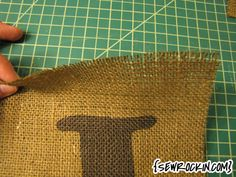 How to print on Burlap! Something I really want to try