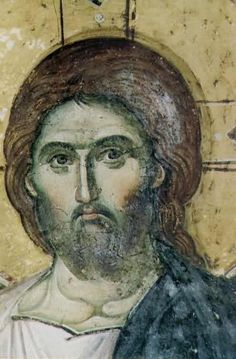 The head of Lord Jesus Christ - painted by Manuil Panselinos, Protaton, Mt. Byzantine Icons, Byzantine Art, Religious Icons, Religious Art, Holly Pictures, Jesus Photo, Renaissance Paintings, Art Icon, Orthodox Icons