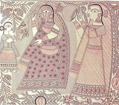 Ganga Devi — Art Lounge Moscow Hotel, Craft Museum, Hurricane Lanterns, Festivals Of India, Indian Village, Lounge, Indian Folk Art, Madhubani Painting, Traditional Paintings