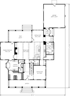Southern living house plan, love except for an office instead of a dining room?