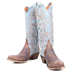 01438ee2 Lucchese Blue Stonewashed Lizard Cowgirl Boots Country Wear, Country Style,  Western Store, Western
