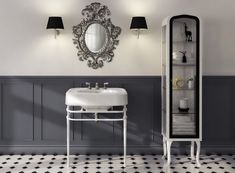 Devon&Devon, an Italian interior-design brand, offers exclusive, comprehensive and coordinated solutions in a contemporary-classic style for the bathroom and beyond. Retro Bathrooms, Guest Bathrooms, Bathroom Ideas, Bathroom Vanities, Master Bathroom, Living Room Accents, Home Accents, Devon Devon, Bathroom Collections