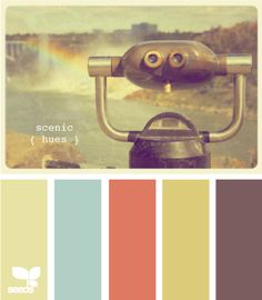 these colors would make for such a cheerful space. love the image too.