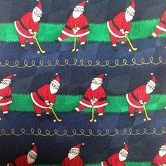 Christmas Holiday Mens Silk Necktie Golfing Santa  Wide 56L x 4W USA 142 x 10 cm #HolidayTraditionsbyHallmark #NeckTie