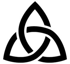 Triquetra - Three interlocking arcs are used to represent the Father, Son, and Spirit. The equality of the arches is symbolic of the equal standing of the trinity. Read more at Buzzle: http://www.buzzle.com/articles/most-recognizable-catholic-symbols-and-their-meanings.html