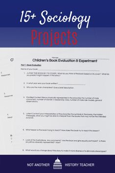 As students get older, they get less excited about projects. However, teachers know the power behind projects. When students are working on them, they are truly focused, engaged, and interacting with the content on a deeper level. Due to this, it often takes many hours to put high-quality projects together. Thankfully, these Sociology Projects are ready-to-go. These incredible projects are so amazing that students will be visibly happy and focused!