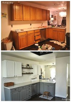 How To Choose New Kitchen Countertops When Kitchen Remodeling – House Viral Gossip Updated Kitchen, New Kitchen, Kitchen Reno, Smart Kitchen, Kitchen Modern, Kitchen Floor, Kitchen Layout, Home Renovation, Home Remodeling