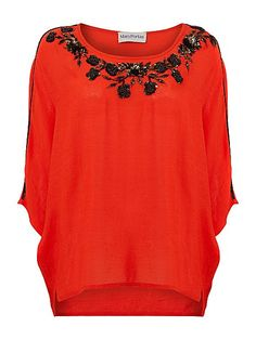 9d6a8382662e8c Mary Portas Embellished batwing blouse