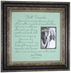 Best Friends Gift Custom Wedding Frame, Bridesmaid You are a MIRROR shining back at me, Sister, Maid of Honor, Thank You Gift ( 16 X 16 ). $89.00, via Etsy.