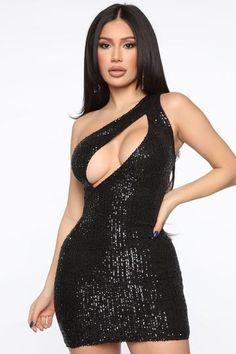 Curve Dresses, Sexy Dresses, Fashion Dresses, Fashion Nova Models, Curvy Women Fashion, Sequin Mini Dress, Mesh Dress, Silver Dress, Dress Black