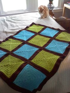 Maggies Square Blue Green by Drew - The Crochet Dude: Free Ravelry Pattern