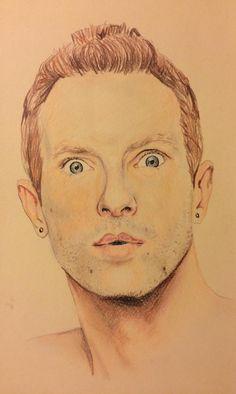 Portrait of Chris Martin (singer)