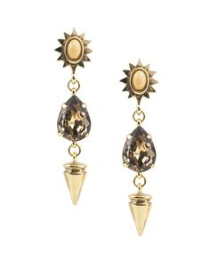 Mesmerizing! Love how the tone of the jewels n metals blend! Masterful n stunning! A must have!!! Midas Sun Earrings