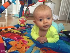 A day in the life with a 15 week old tummy time