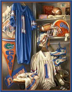 FLorida Gators Locker Room Cross Stitch Pattern***L Fla Gators, Florida Gators Football, Gator Football, College Football, Football Fans, College Sport, Florida Gators Wallpaper, Tim Tebow, Florida Girl