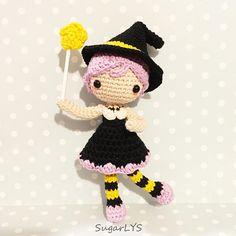 CROCHET PATTERN Halloween Little Witch Amigurumi by SugarLYS