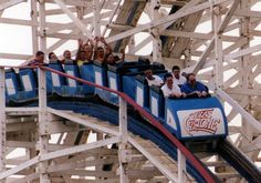 Texas Cyclone, AstroWorld, Six Flags, Houston, Texas. Closed, razed and forever gone.  I remember riding this!!!!!