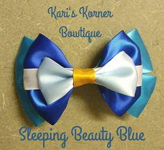 Disney Inspired Bow  Sleeping Beauty Blue by KarisKornerBowtique