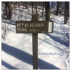 Will Run For Ice Cream: Appalachian Trail Snowy Winter Run #TrailRunning