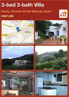3-bed 3-bath Villa in Denia, Alicante (Costa Blanca), Spain ►€497,500 #PropertyForSaleInSpain